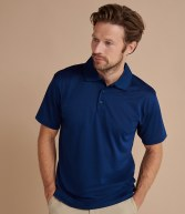 H473: Henbury Cooltouch® Textured Stripe Polo Shirt