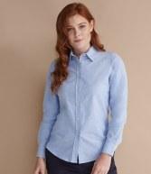 H511: Henbury Ladies Long Sleeve Classic Oxford Shirt