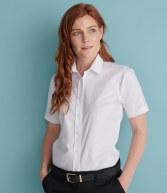 H516: Henbury Ladies Short Sleeve Classic Oxford Shirt