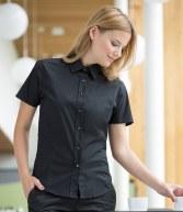 H540: Henbury Ladies Short Sleeve Stretch Shirt