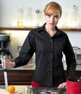 H541: Henbury Ladies Long Sleeve Stretch Shirt