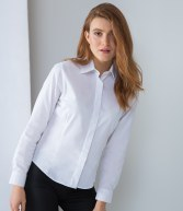 H551: Henbury Ladies Long Sleeve Oxford Shirt
