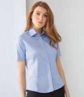 H556: Henbury Ladies Short Sleeve Oxford Shirt