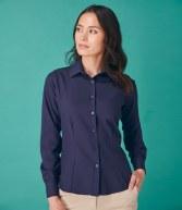 H591: Henbury Ladies Anti-bac Long Sleeve Wicking Shirt