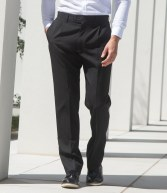 H603: Henbury Single Pleat Polyester Trousers