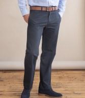 H608: Henbury Flat Fronted Chino Trousers