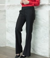 H609: Henbury Ladies Flat Front Bootleg Trousers