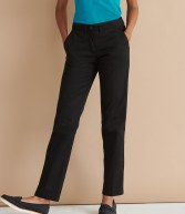 H641: Henbury Ladies 65/35 Flat Fronted Chino Trousers