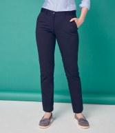 H641: Henbury Ladies 65/35 Flat Fronted Chino Trousers