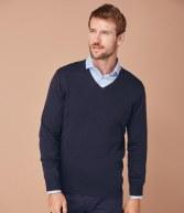 H720: Henbury Lightweight Cotton Acrylic V Neck Sweater
