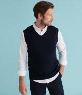 H724: Henbury Lightweight Sleeveless Cotton Acrylic V Neck Sweater