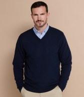 H730: Henbury Lambswool V Neck Sweater