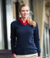 H732: Henbury Ladies Lambswool V Neck Sweater