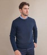 H735: Henbury Lambswool Crew Neck Sweater