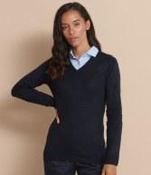 H761: Henbury Ladies Acrylic V Neck Sweater