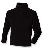 H854: Henbury Zip Neck Inner Micro Fleece
