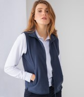 H856: Henbury Ladies Sleeveless Micro Fleece Jacket