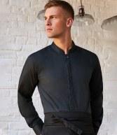 K123: Kustom Kit Bargear® Long Sleeve Mandarin Collar Shirt