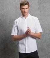 K160: Kustom Kit Short Sleeve Mandarin Collar Shirt