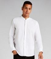 K161: Kustom Kit Long Sleeve Mandarin Collar Shirt