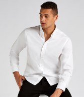 K188: Kustom Kit Long Sleeve Tailored Oxford Shirt