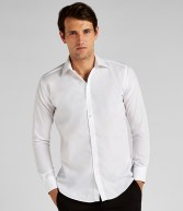 K192: Kustom Kit Long Sleeve Slim Fit Business Shirt