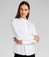 K261: Kustom Kit Ladies Long Sleeve Mandarin Collar Shirt