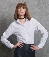 K316: Kustom Kit Ladies Long Sleeve Premium Corporate Shirt