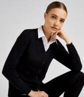 K354: Kustom Kit Ladies Arundel  Cotton Acrylic V Neck Cardigan