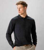 K356: Kustom Kit Long Sleeve Arundel Knitted Polo