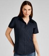 K360: Kustom Kit Ladies Short Sleeve Workwear Oxford Shirt