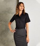 K387: Kustom Kit Ladies Short Sleeve City Business Shirt