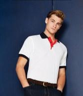 K404: Kustom Kit Contrast Poly/Cotton Pique Polo Shirt