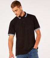 K409: Kustom Kit Contrast Tipped Pique Polo Shirt