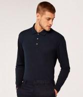 K430: Kustom Kit Long Sleeved Poly/Cotton Pique Polo Shirt