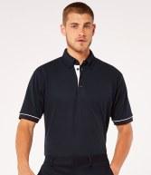 K449: Kustom Kit Button Down Collar Contrast Pique Polo Shirt