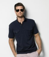 K633: Kustom Kit Pocket Pique Polo Shirt