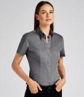 K701: Kustom Kit Ladies Short Sleeve Corporate Oxford Shirt