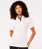 K706: Kustom Kit Ladies St Mellion Tipped Pique Polo Shirt
