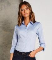 K710: Kustom Kit Ladies 3/4 Sleeve Corporate Oxford Shirt