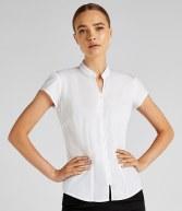 K727: Kustom Kit Ladies Cap Sleeve V Neck Continental Blouse