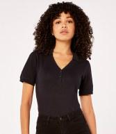 K732: Kustom Kit Sophia Comfortec® V Neck Polo Shirt