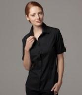 K739: Kustom Kit Bargear® Ladies Short Sleeve Turn Back Cuff Shirt