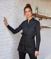 K740: Kustom Kit Bargear® Ladies Long Sleeve Mandarin Collar Shirt