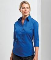 PR305: Premier Ladies 3/4 Sleeve Poplin Blouse