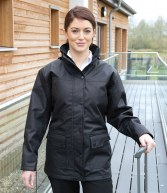 RS307F: Result Work-Guard Ladies Platinum Managers Jacket
