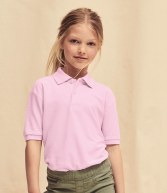 SS11B: Fruit of the Loom Kids Poly/Cotton Pique Polo Shirt