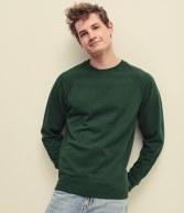 SS120: Fruit of the Loom Lightweight Raglan Sweatshirt