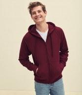 SS122: Fruit of the Loom Lightweight Zip Hooded Sweatshirt