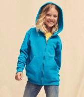 SS16B: Fruit of the Loom Kids Zip Hooded Sweatshirt